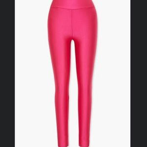 Pink stretch leggings